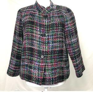 Women's 12P Talbots wool blend blazer jacket pink